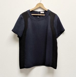J. Crew Factory Colorblock Crepe Top B9470